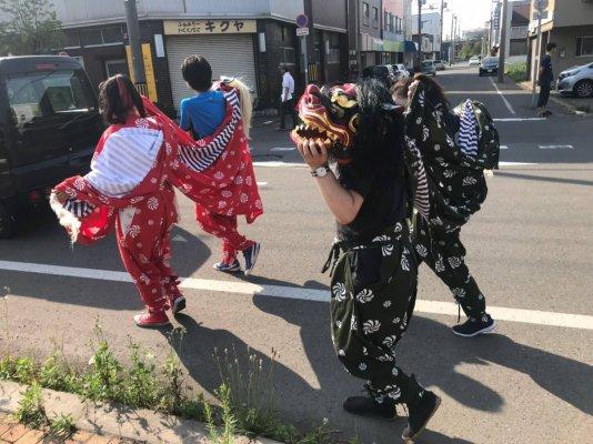 輪西稲荷神社 獅子舞_190814_0044